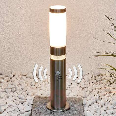 Stainless steel pillar light Binka with sensor