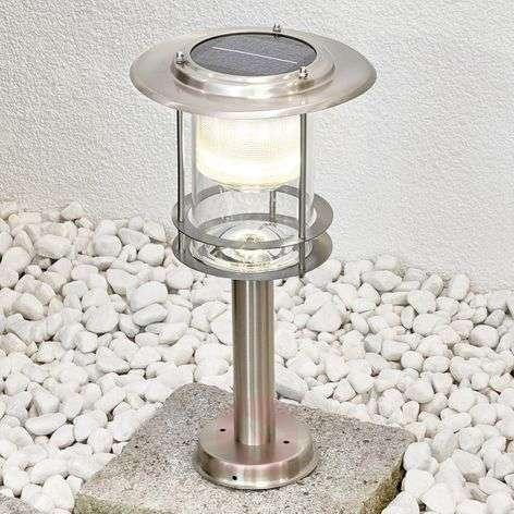 Stainless steel, solar LED pillar lamp Liss
