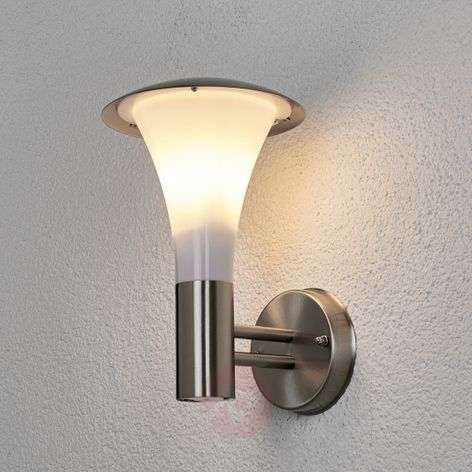 Stainless steel wall light Arda for outdoor use