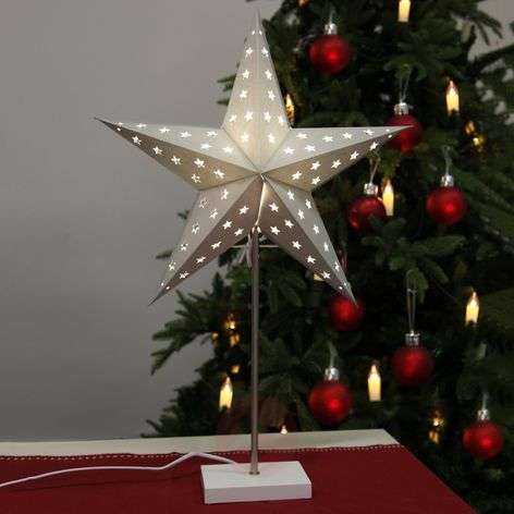 Standing light Star in silver and white-1522872-31