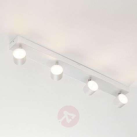 Star four-bulb LED ceiling spot, white, WarmGlow