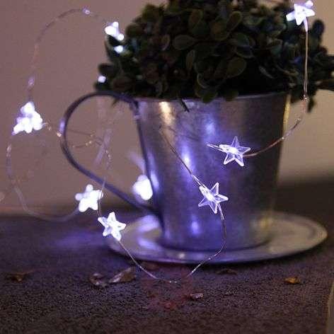 Star LED string lights String, 12 bulbs