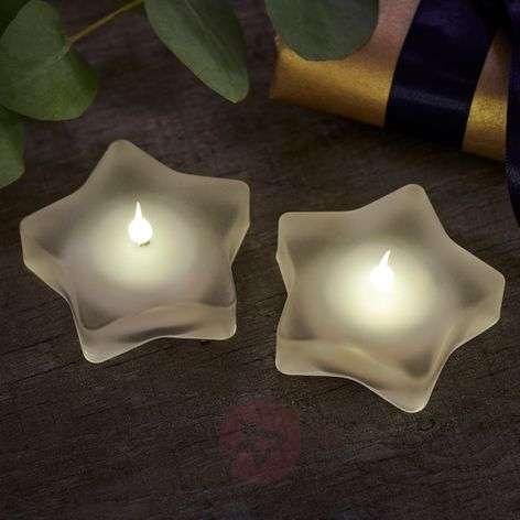 Star-shaped LED tea light Lea Star