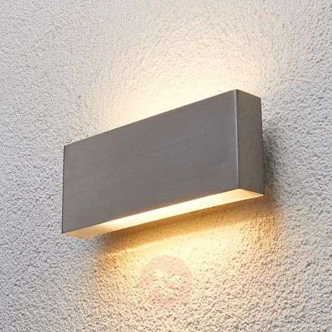 Steel outdoor wall light Safira with LED