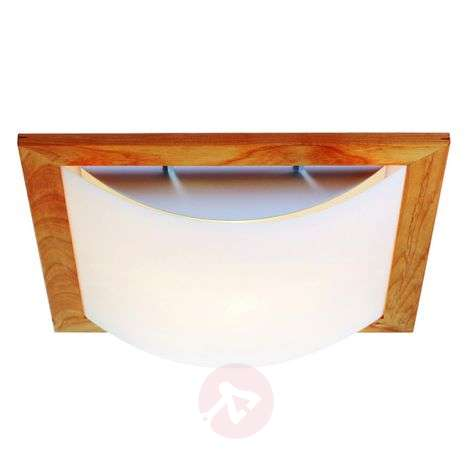 Stella ceiling light with wood and lunopal