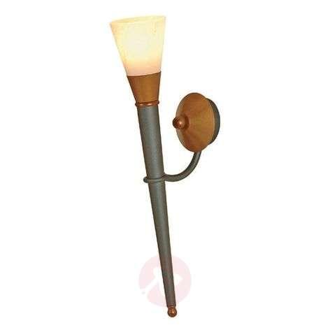 STELLA lead-coloured one-bulb wall torch