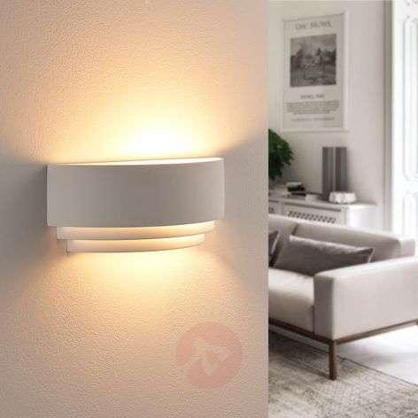 Step-shaped LED plaster wall lamp Leonit, Easydim