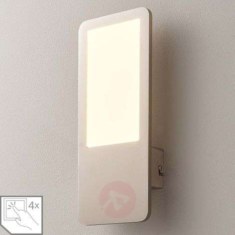 Stephanie dimmable LED wall lamp in matt nickel