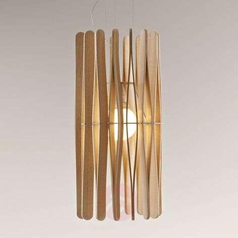 Stick hanging light made of wood
