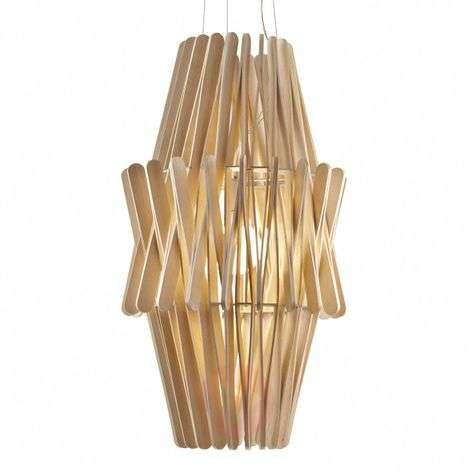 Stick wooden hanging light