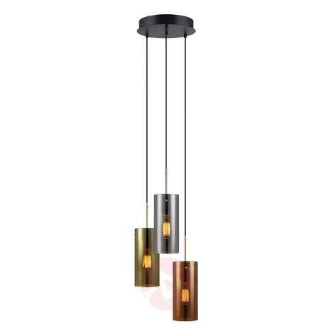 Storm - 3-bulb pendant lamp in mix of colours