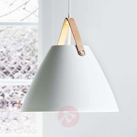 Strap 36 LED pendant lamp with a leather strap