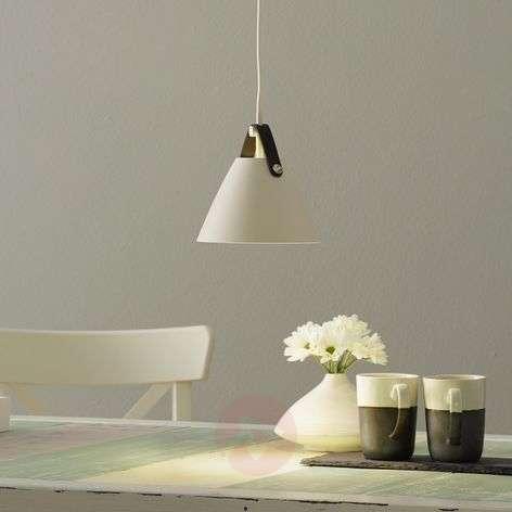 Strap hanging light, 16.5cm diameter, white