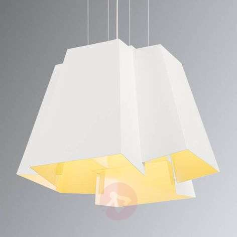 Striking designer hanging lamp Soberbia with LED