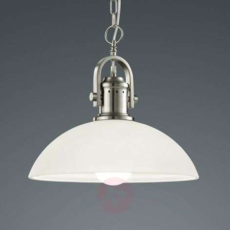Striking hanging light Montender, matt nickel