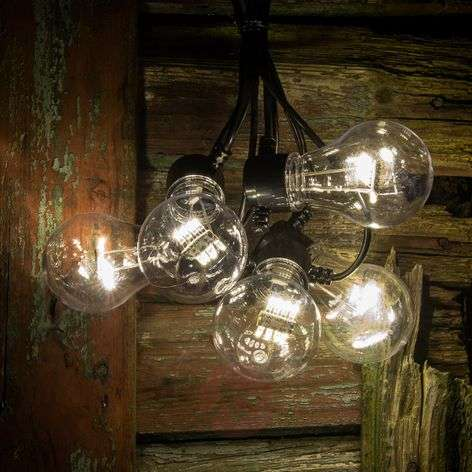 String lights, LED bulb filament look warm white