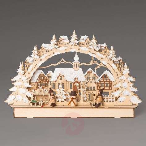Stunning LED candle arch Town With Winter Children-8501098-31