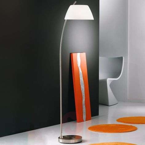 Stylish floor lamp Malmö, nickel