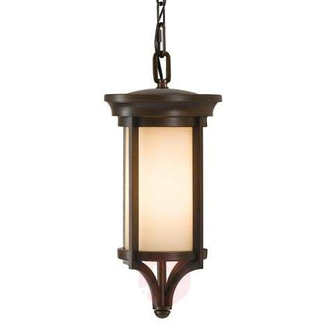 Stylish hanging lamp Merrill for outdoor use