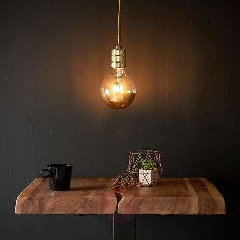 Stylish LED pendant lamp Chicago with gold finish