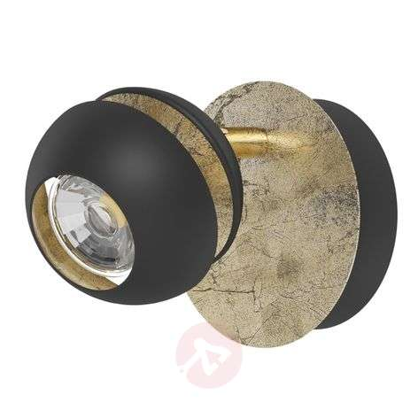 Stylish Nocito LED wall light in black and gold
