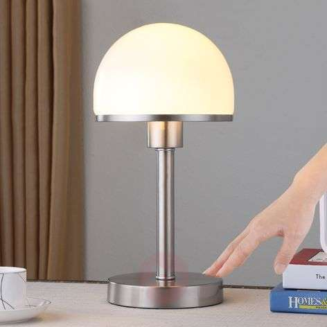 Stylish table lamp Jolie with glass lampshade-9620812-31