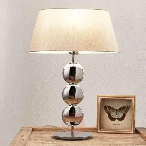 Stylish table lamp Sofia with silver base