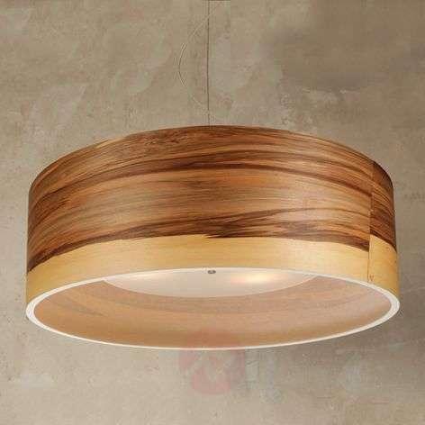 Stylish walnut veneer hanging light Funk
