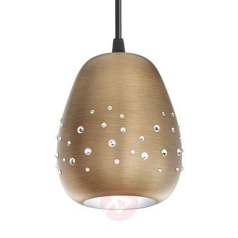 Swarovski Inlay pendant light with bronze finish