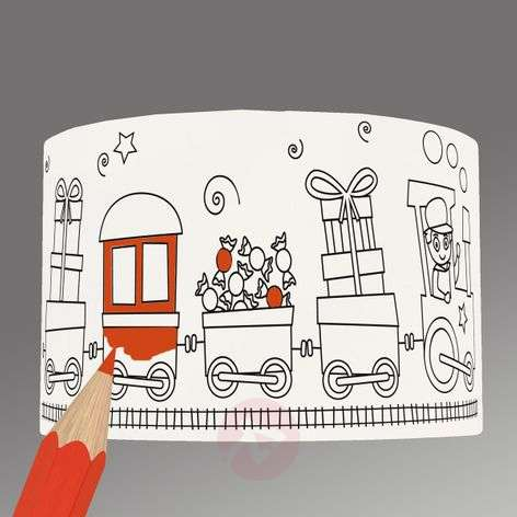 Sweet Wagons - charming lampshade for painting