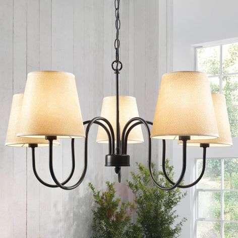 Swing rust-coloured antique chandelier