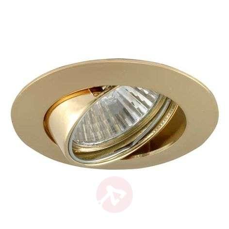 Swivelling high volt recessed spotlight MAL gold