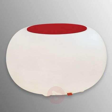 Table BUBBLE Indoor LED white light + red felt-6537054-31