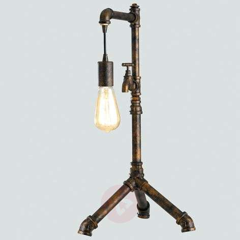 Table lamp Amarcord designed in a pipe design