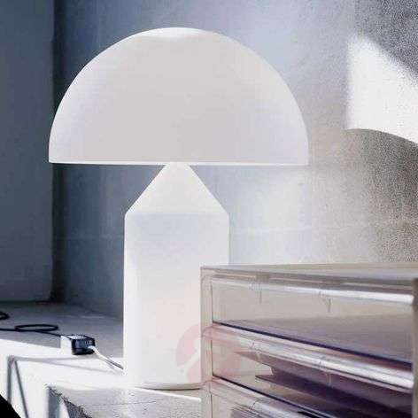 Table lamp Atollo with Murano glass