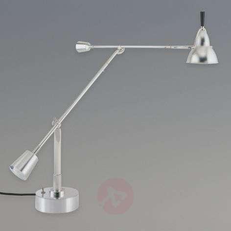 Table lamp by Edward-Wilfrid Buquet, nickel