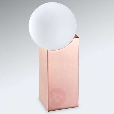 Table lamp Cub in copper with a glass sphere