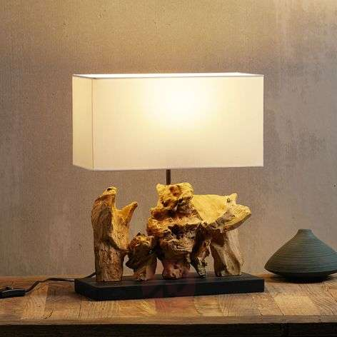 Table lamp Nature Vertical with driftwood base