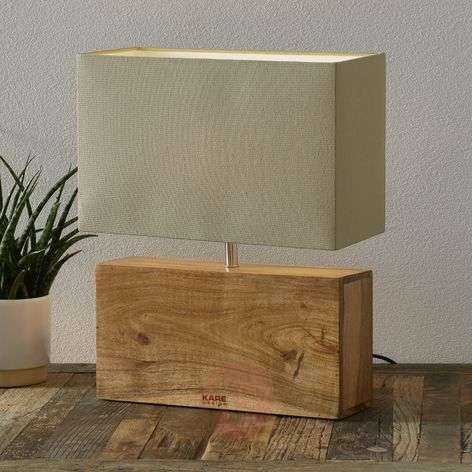 Table lamp RECTANGULAR WOOD with wooden base