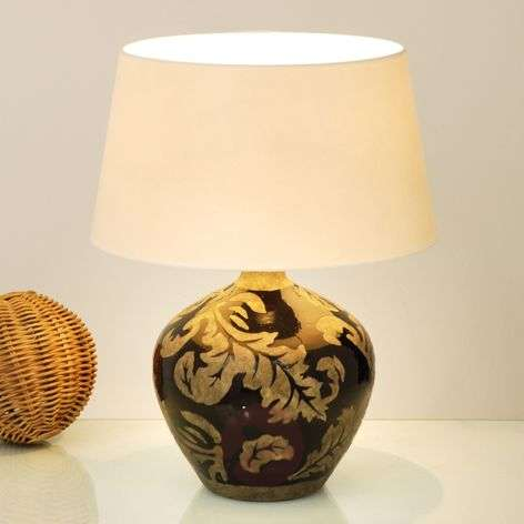 Table lamp Toulouse black-mud