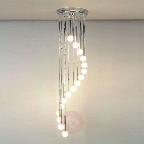Talisa Hanging Light Chrome-Plated with Opal Glass