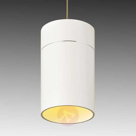 Tall LED hanging light Tudor L matt white