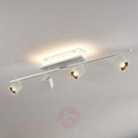 Taly LED ceiling lamp, 4 spotlights, long
