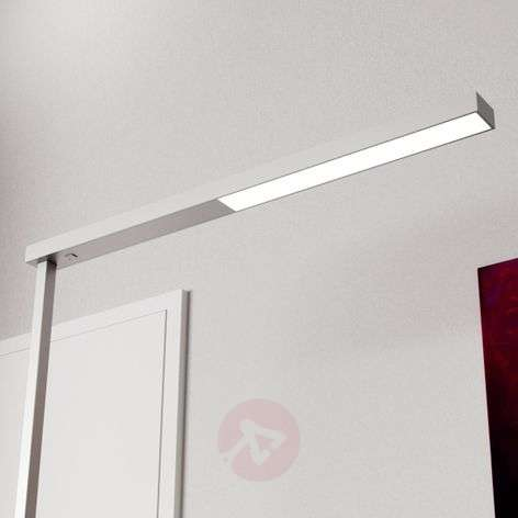 Tamilo silver-coloured office floor lamp with LEDs