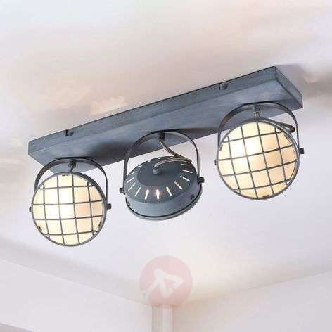 Tamin grey LED ceiling light in industrial style