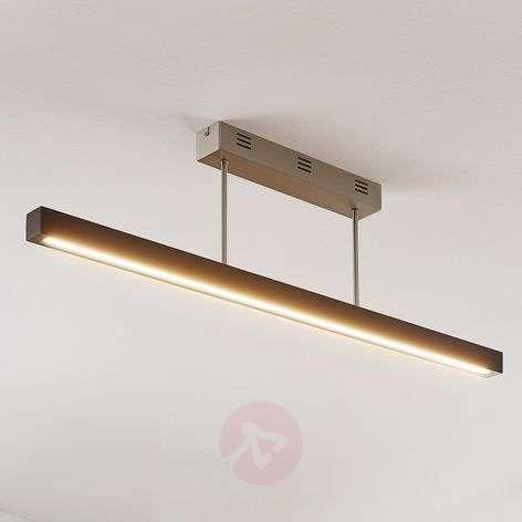 Tamlin LED wooden ceiling light, black