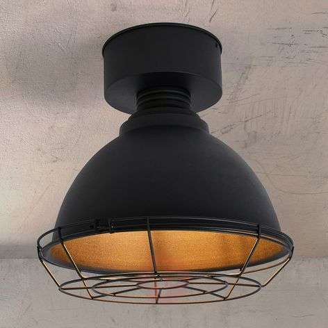 Tarje round LED ceiling lamp with mesh