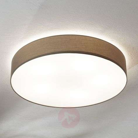 Grey Ceiling Lamp Pasteri Linen Lampshade Lights Ie
