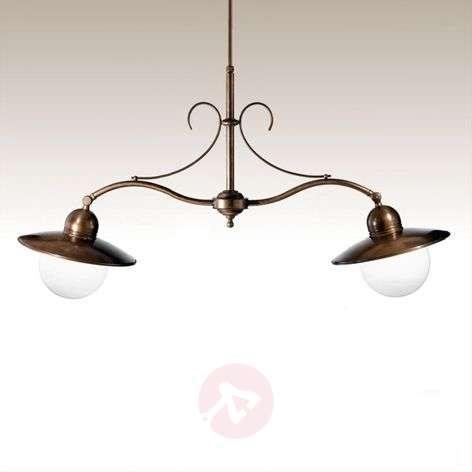 Taverna two-bulb hanging light