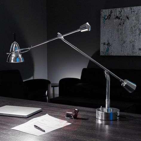 Tecnolumen Buquet LED table lamp, silver-plated